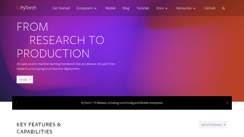 PyTorch Landing Page