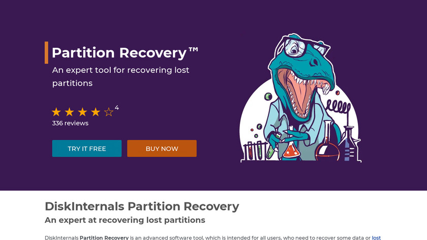 Partition Recovery by DiskInternals Landing Page