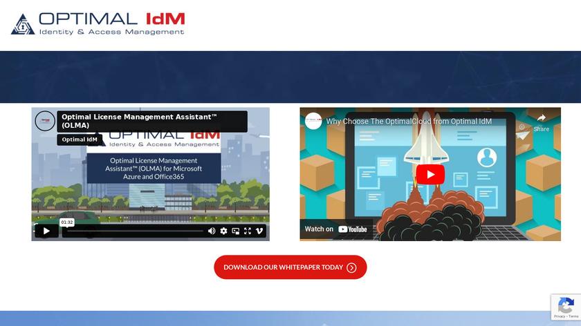 Optimal IdM Landing Page