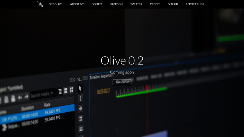 Olive Video Editor Landing Page