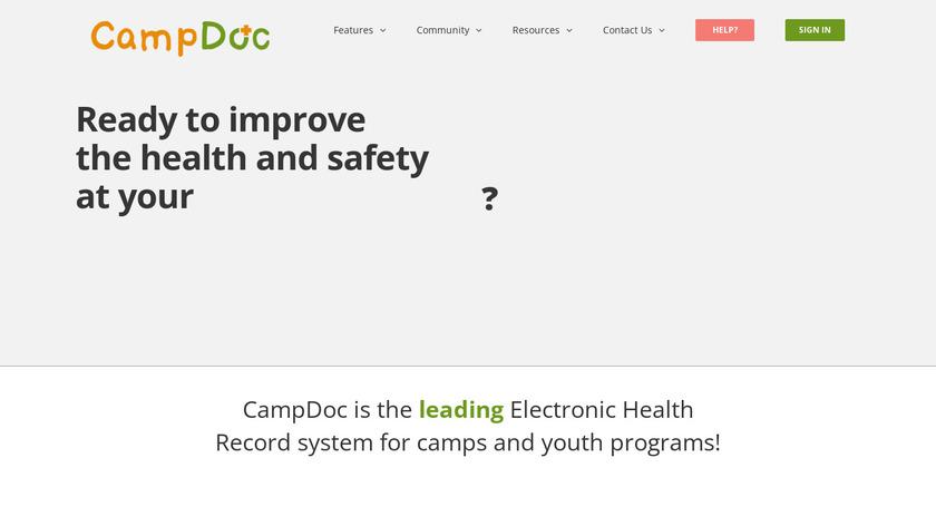 CampDoc.com Landing Page