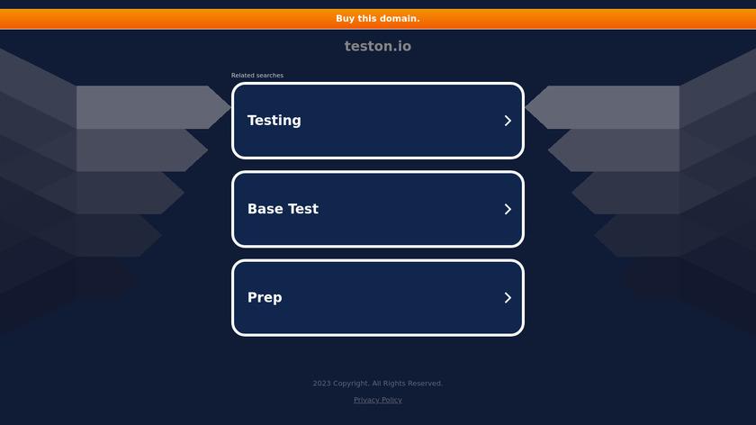 Teston Landing Page