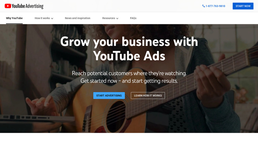 YouTube Ads Landing Page