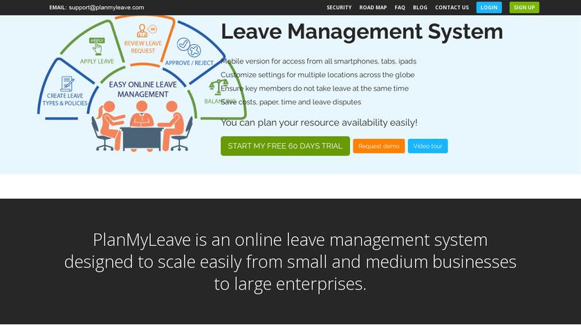 PlanMyLeave Landing Page
