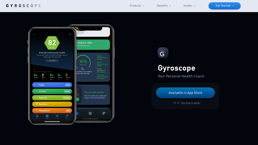 Running by Gyroscope Landing Page