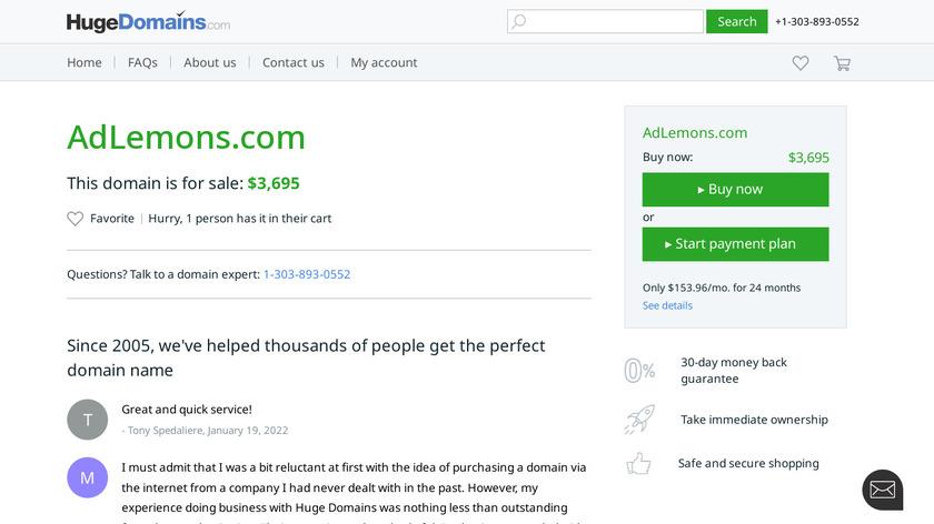 AdLemons Landing Page
