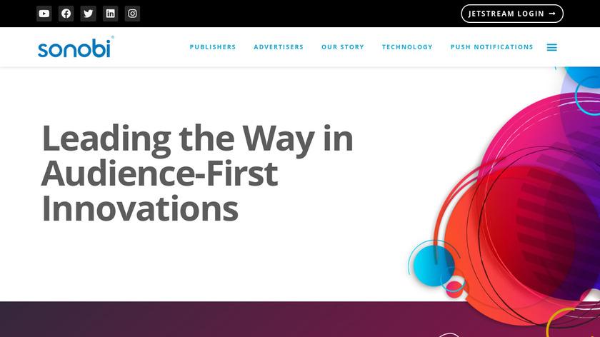 Sonobi Landing Page
