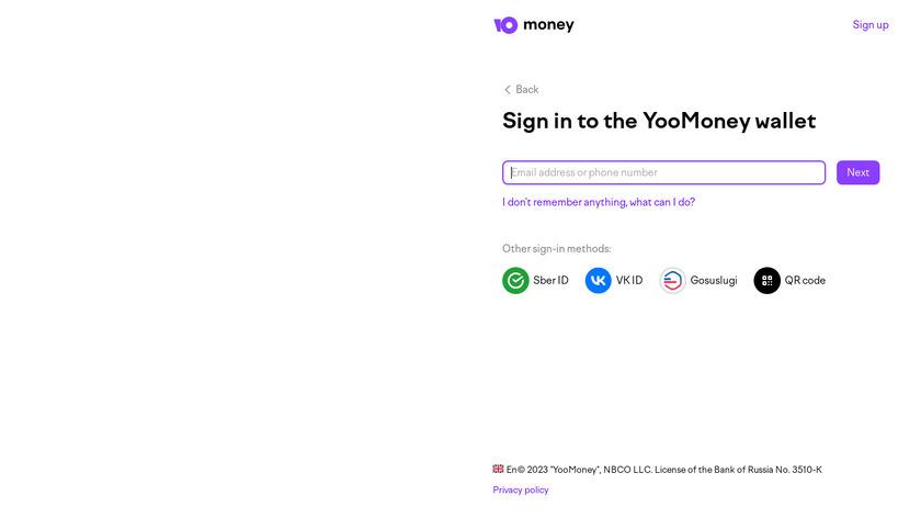 Yandex.Money Landing Page