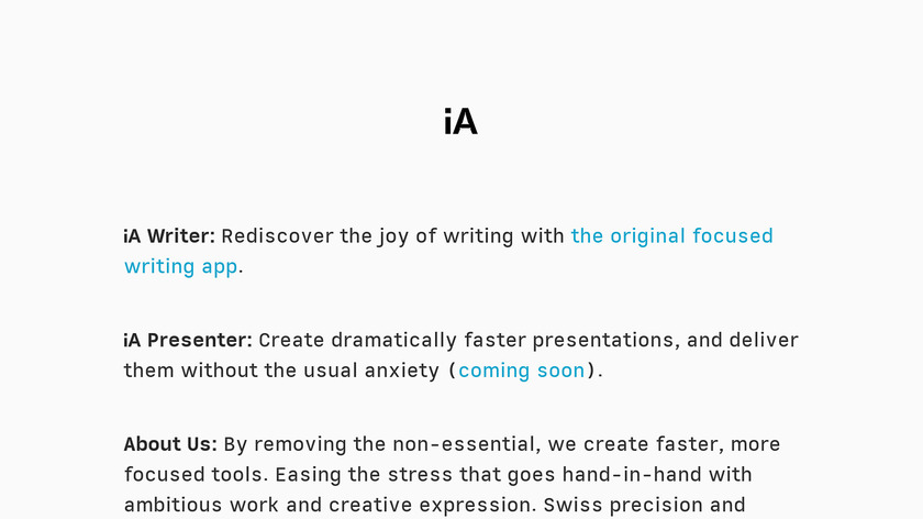 iA Writer Landing Page