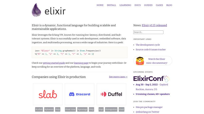 Elixir Landing Page