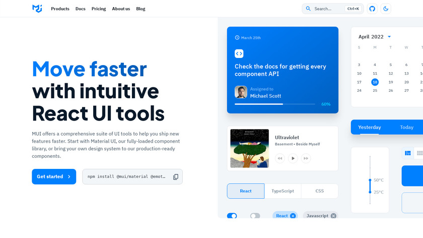 Material-UI Landing Page