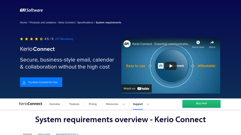 Kerio Connect Landing Page