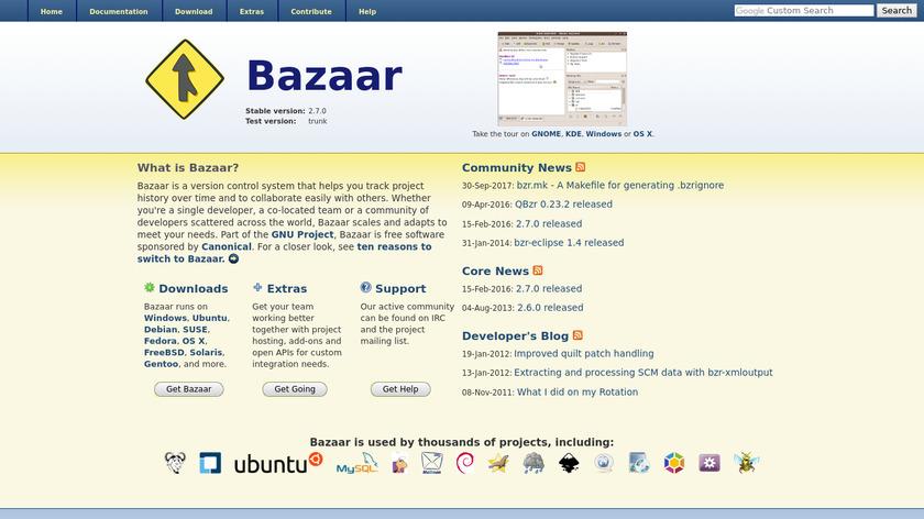 Bazaar Landing Page