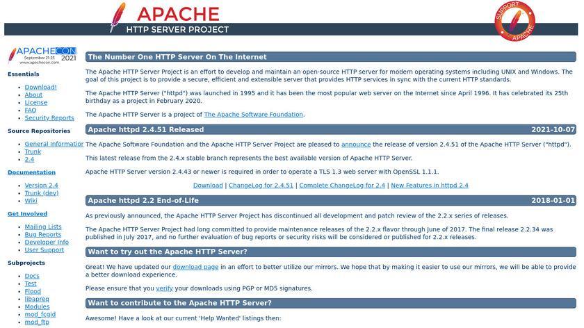 Apache HTTP Server Landing Page