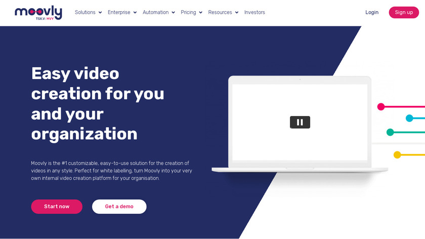 Moovly Landing Page