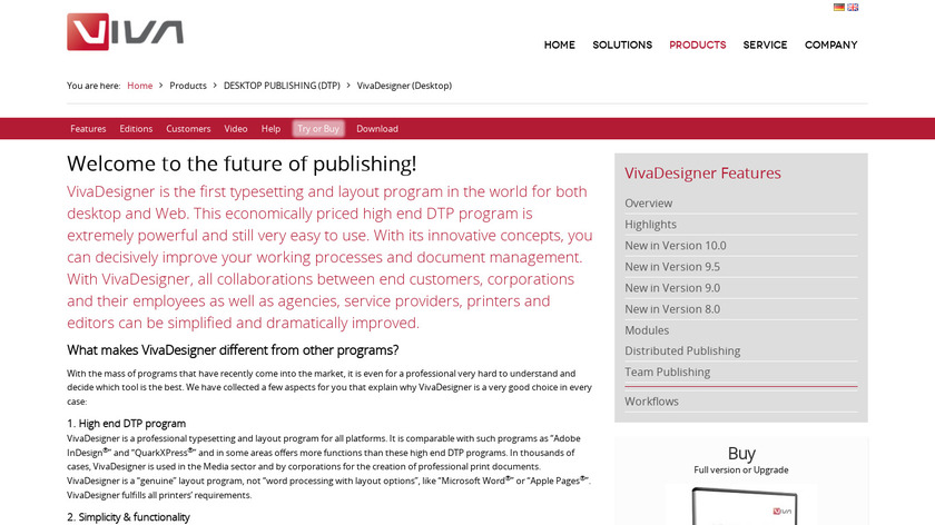 VivaDesigner Landing Page