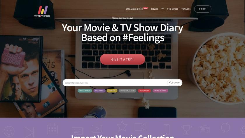 MyMovieRack Landing Page