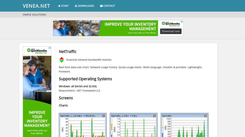 NetTraffic Landing Page