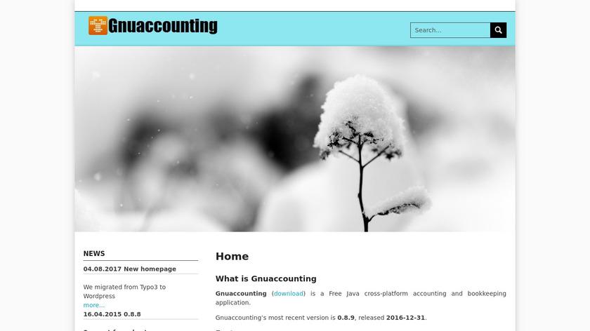 Gnuaccounting Landing Page