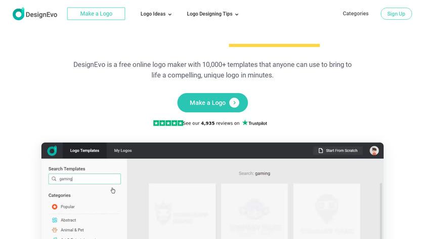 DesignEvo Logo Maker Landing Page