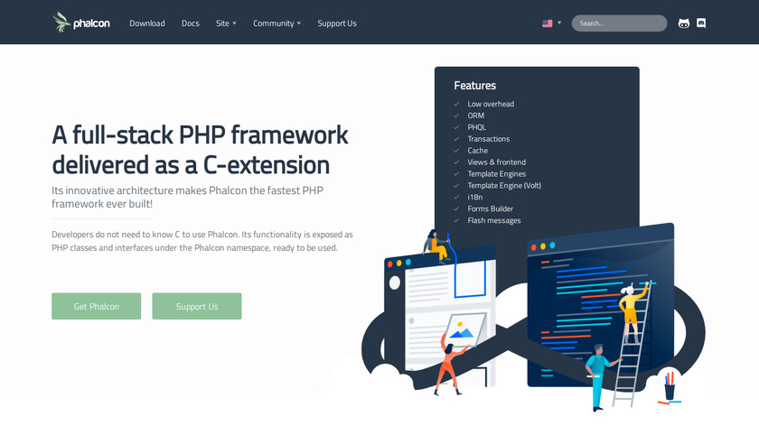 Phalcon Landing Page