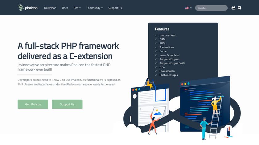 Phalcon Landing Page