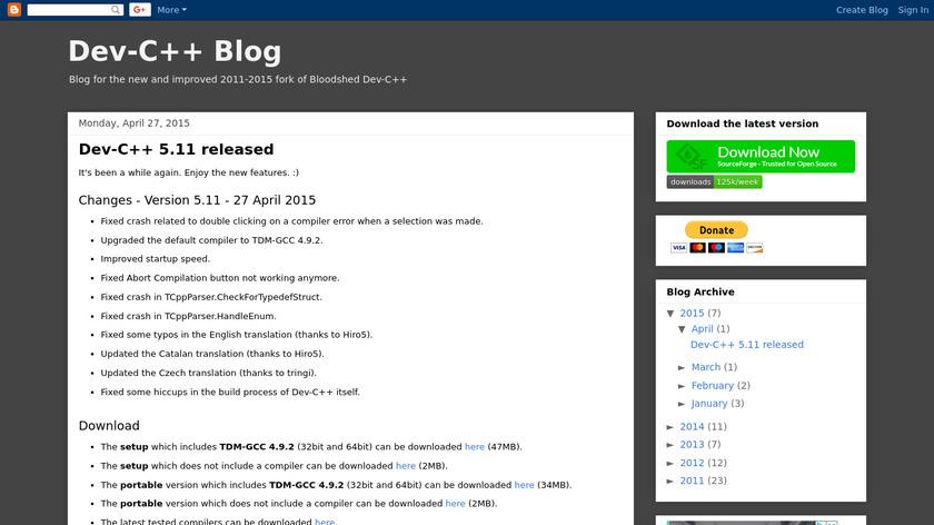 Orwell Dev-C Landing Page