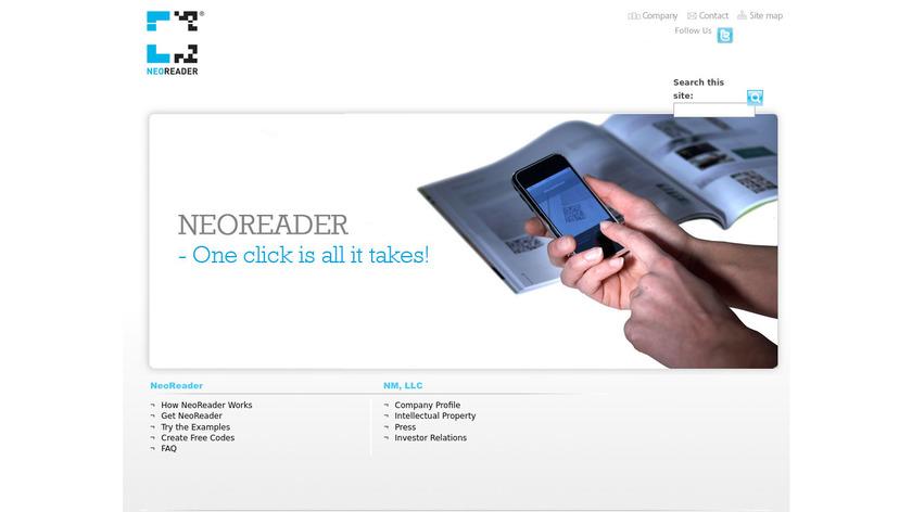 NeoReader Landing Page