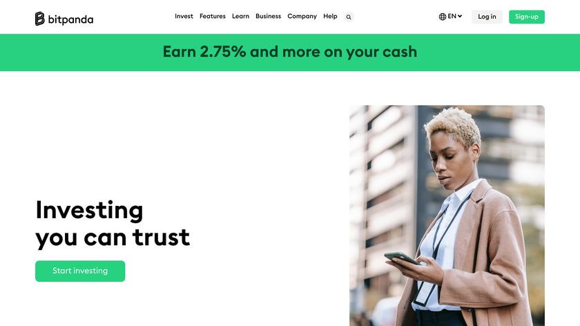 BITPANDA Landing Page