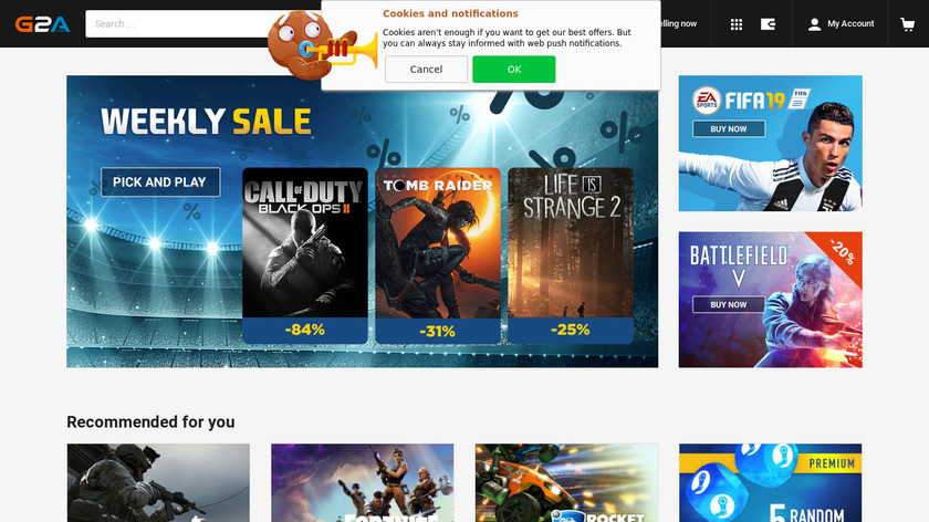 G2A Landing Page
