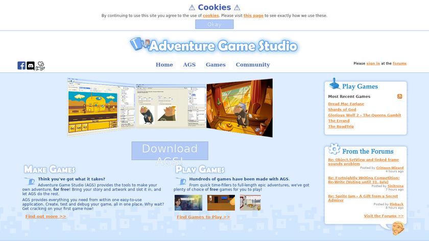 Adventure Game Studio Landing Page