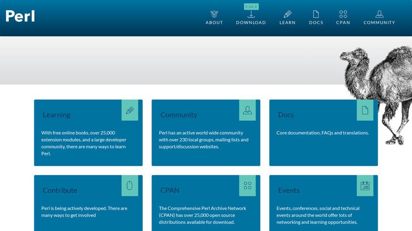Perl Landing Page