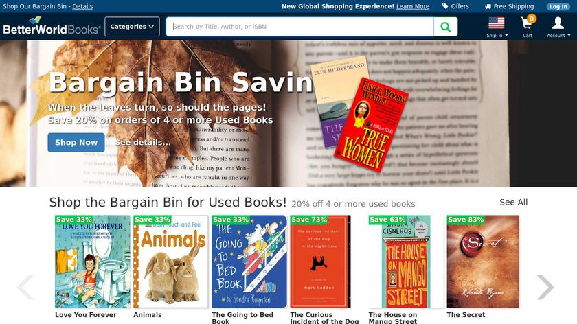 BetterWorldBooks Landing Page