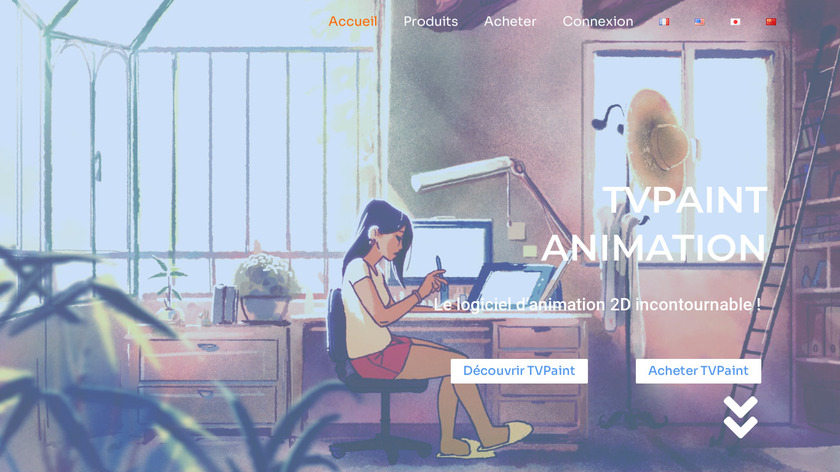 TVPaint Animation Landing Page