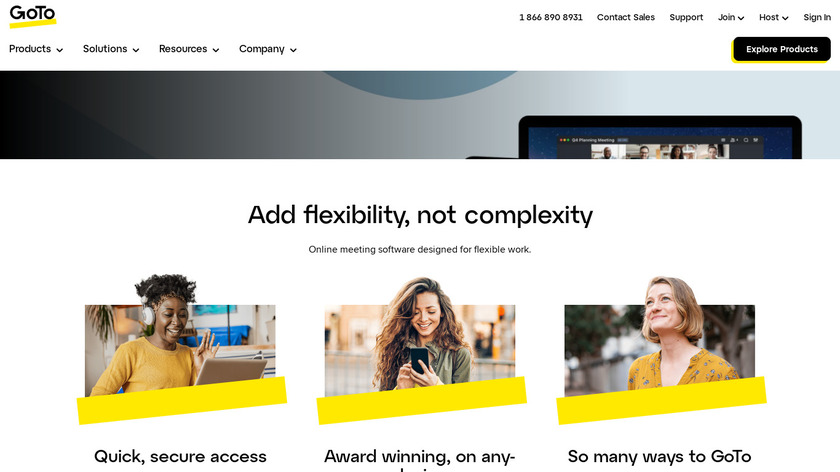 join.me Landing Page