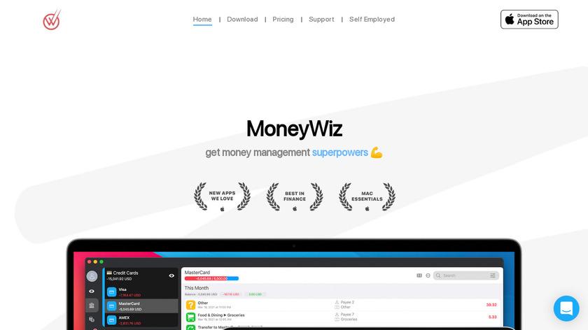 MoneyWiz Landing Page