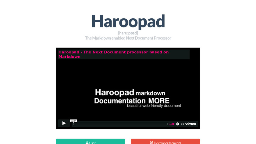 Haroopad Landing Page