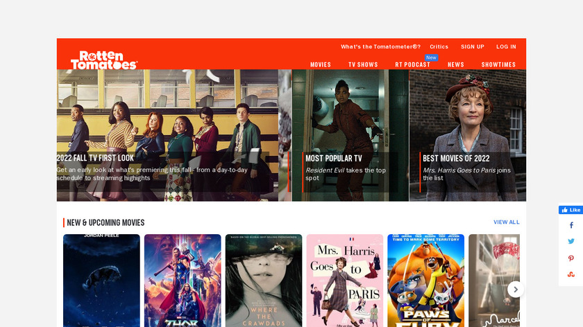 Rotten Tomatoes Landing Page
