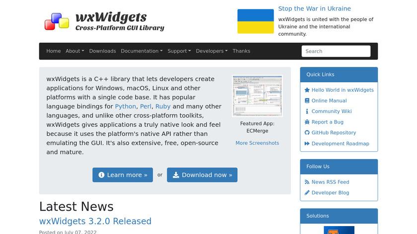 wxWidgets Landing Page
