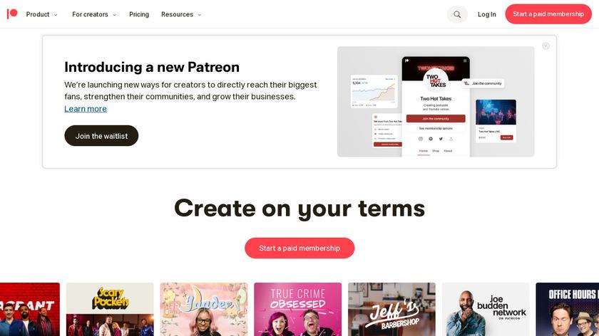 Patreon Landing Page