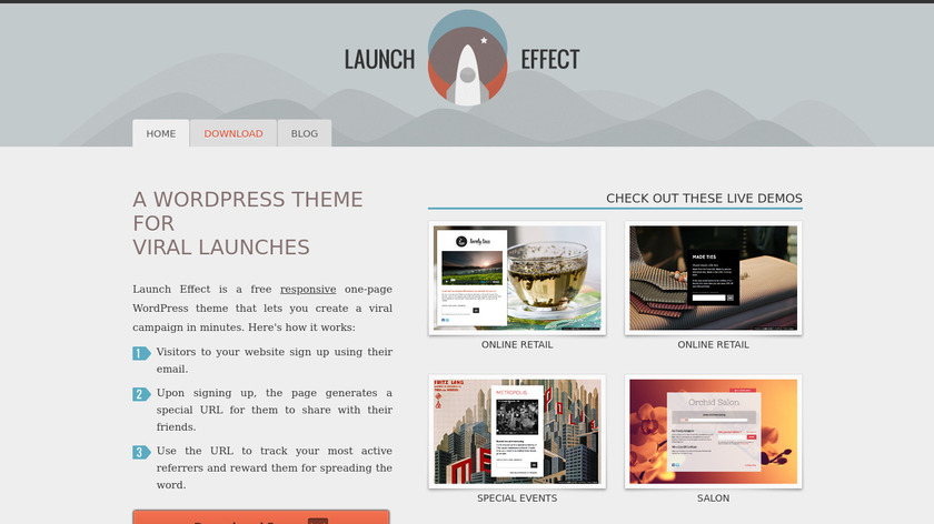 Launch Effect Landing Page