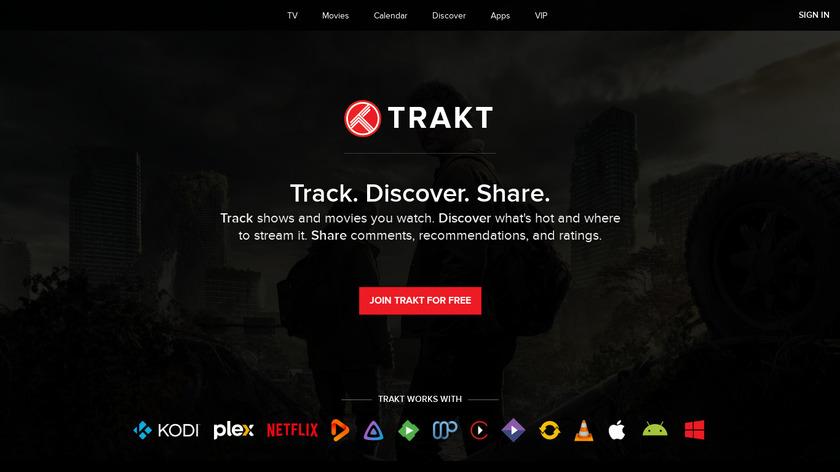 Trakt.tv Landing Page