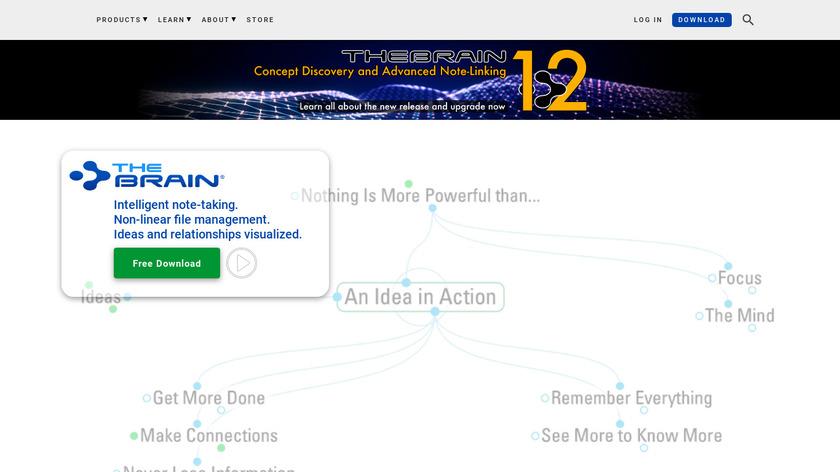 TheBrain Landing Page