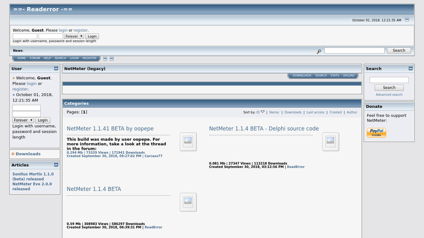 metal-machine.de NetMeter Landing Page