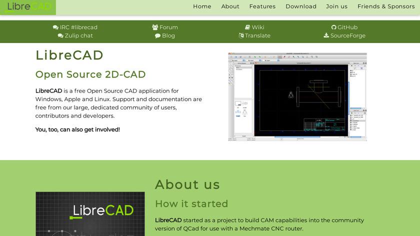 LibreCAD Landing Page