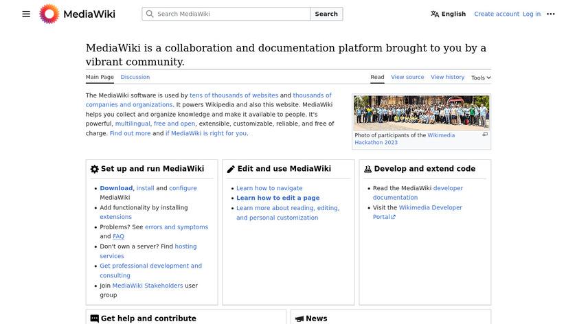 MediaWiki Landing Page