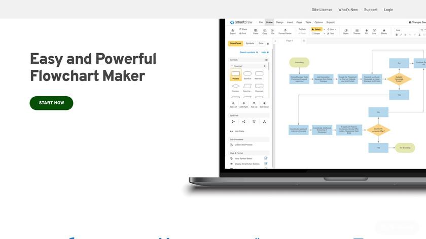 SmartDraw Landing Page