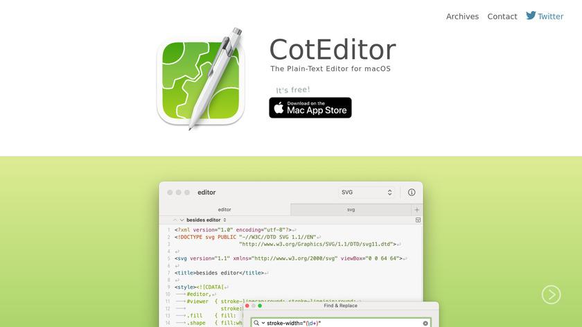 CotEditor Landing Page