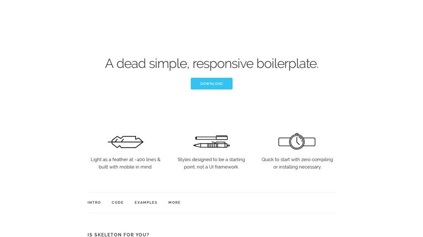 Skeleton CSS Landing Page