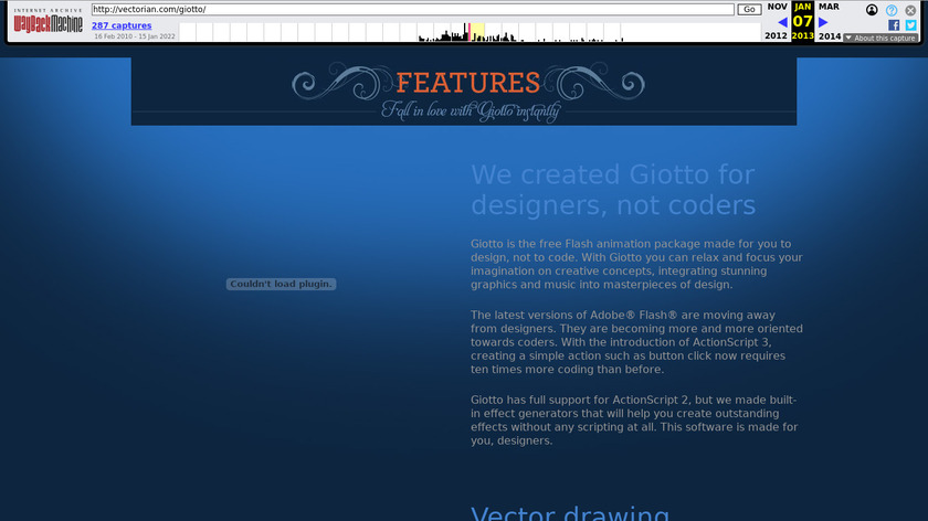 Vectorian Giotto Landing Page